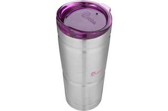 (710ml, Stainless Steel w/ Paradise Purple Lid) - Bubba Brands IGNITE USA 1965699 PURP Vacuum 710ml Stainless Steel Tumbler, Paradise Purple Lid