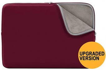 """(14"""", Red(Upgraded Version)) - RAINYEAR 36cm Laptop Sleeve Protective Case Soft Lining Padded Zipper Cover Carrying Bag Compatible with 36cm Notebook Computer Tablet Ultrabook Chromebook(Red,Upgraded Version)"""