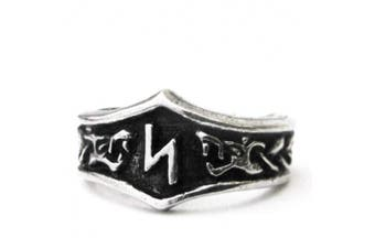 Unisex Viking Pewter Adjustable Runic Ring (S- Sowilo)