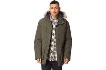 (X-Large, Dark Khaki) - Regatta Men's Salinger Waterproof and Breathable Insulated Hooded Jacket