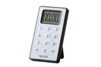 Taylor Digital 10 Key Timer, Silver