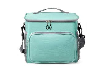 (Blue&green) - OCOOPA Premium Insulated Lunch Bag Large Lunch Box Bag with Adjustable Shoulder Strap Waterproof Cooler Tote Bag for Adults Kids Travel Camping Office School