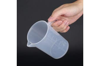(500ML) - 500ml/1000ml Plastic Measuring Cups Clear Cup Measurement Tool with Lid Kitchen Cooking Baking Accessaries(500ML)