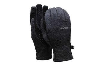 (X-Small) - Head Unisex Ultrafit SENSATEC Technology Touchscreen Running Glove - Grey