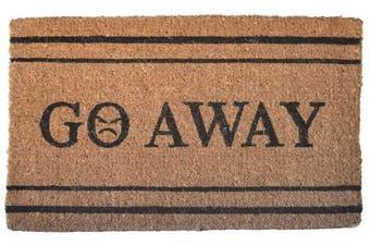 (Go Away) - Imports Decor Printed Coir Doormat, Go Away, 46cm by 80cm