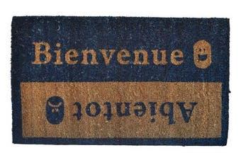 (Bienvenue) - Imports Décor 516PVC Bienvenue Abientot Vinyl Back Coir Doormat, 46cm by 80cm