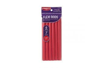 (1.3cm  Diameter, Red) - Red by Kiss Flexi Rods 18cm 6 PCS, 1.3cm Diameter, Red