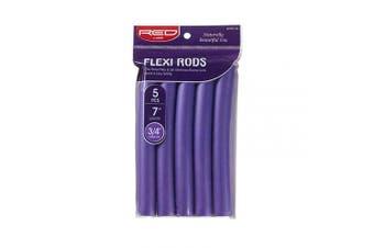 (1.9cm  Diameter, Purple) - Red by Kiss Flexi Rods 18cm 5 PCS, 1.9cm Diameter, Purple