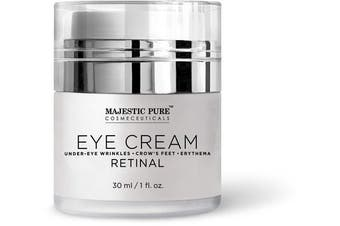 Majestic Pure Under Eye Cream - Age Defying Retinal - Reduces the Appearances of Winkles, Dark Circles, Puffiness, Crow Feet and Hyperpigmentation, 30ml