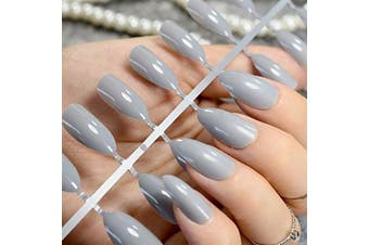 24-COLOURED-SHORT-EUROPEAN-FULL-COVER-FALSE-NAILS-19-COLOURS nail tip acrylic nail Manicure & Pedicure