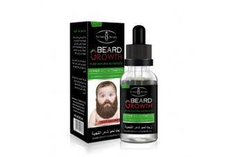 (A, Clear) - Beard Grow Oil | Facial Hair Supplement |Thicker Beard Care|Mens Hair Growth Vitamins (Clear, A)
