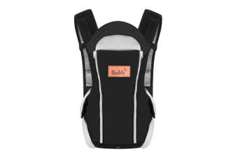 (Black) - Bable Baby Carrier Ergonomic, Soft Carrier Newborn-for Baby 3.6-9.1kg-Baby Wrap Carrier Comfortable for All Seasons, Baby Backpack Carrier Hiking, Baby Gifts for Newborn, Black