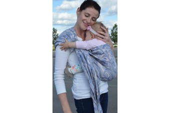 (French Paisley) - Lite-on-Shoulder Baby Sling Ergonomic, 100% Cotton, Adjustable Baby Carrier