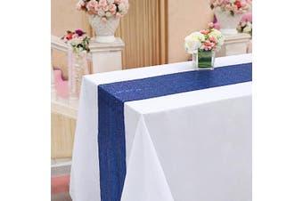 (5, Navy Blue) - TRLYC 5Pcs 30cm x 300cm Navy Blue Sequin Table Runners