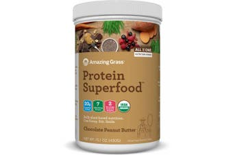 Amazing Grass Plant Protein Superfood Powder, Chocolate Peanut Butter, 10 Servings