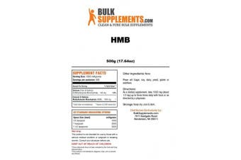 (500 grammes (520ml) Powder) - BulkSupplements Pure HMB Powder (500 grammes)