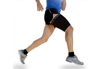 Copper Compression Recovery Thigh Sleeve, For Sore Hamstring, Groyne, & Quad Support. GUARANTEED Highest Copper Content. Great For Running & All Sports! (1 Sleeve) (Medium-Single)