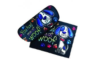 You had me at woof Eyeglass Case and Cleaner