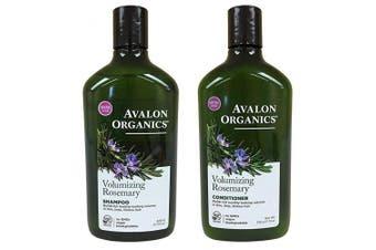 (Duo Set) - Avalon Organics Rosemary Volumizing Shampoo & Conditioner, 330ml each