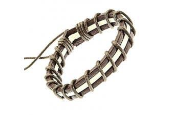 (Style 254) - benerini Unisex Leather & Cord Surf Bracelet Wristband -05
