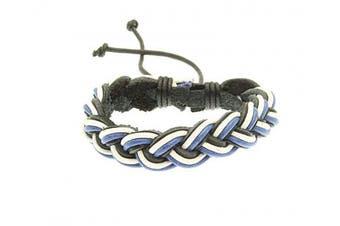 (Style 243) - benerini Unisex Leather & Cord Surf Bracelet Wristband -05
