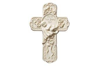 (19cm , Baby Girl) - Faithworks KS410 Tomaso Gift Boxed Cross, 19cm , Baby Girl