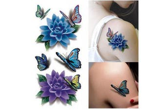 Large Temporary Tattoos Flower Paper Sexy Body Tattoo Sticker Waterproof Temporary Decal DIY Body Art for Women & Girl Fake Tattoo