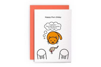 "Cat Funny Rude Humorous –""URGHHHH!"" THAT MUST BE HUMAN FOR THANKYOU– Birthday Card Greeting Card Friends Joke Naughty For Him For Her"