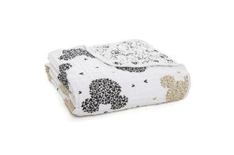 Aden + Anais Disney Metallic, Dream Blanket, 100% Cotton Muslin, 4 Layer Lightweight and Breathable, Large 120cm X 120cm , Mickey's 90Th - Scatter