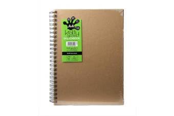 (A4 Portrait) - Artgecko Krafty Sketchbook (A4 Portrait) - 80 Pages (40 Sheets) 150gsm Acid Free White Cartridge Paper