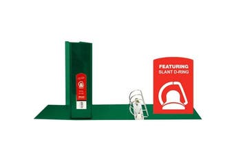 (Green) - BAZIC 7.6cm Green Slant-D Ring View Binder w/ 2 Pockets (4162)