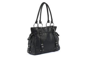 (Black) - Claire Chase Catalina Computer Handbag, Black, One Size