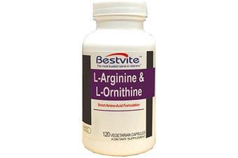 L-Arginine-L-Ornithine 500-250 (120 Vegetarian Capsules)