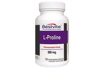 L-Proline 500mg (120 Vegetarian Capsules)