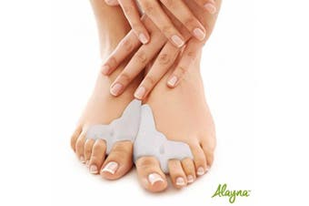 Bunion Relief Gel Toe Separators - Bunion Corrector and Hammer Toe Bunion Splint with Forefoot Cushion Pad - Toe Spacers and Toe Spreaders Bunion Pads