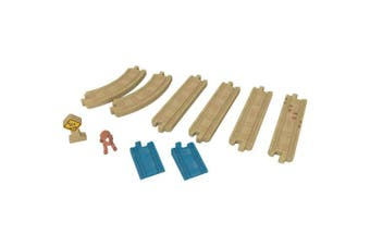 (Straights & Curves Track Pack) - Fisher-Price Thomas & Friends Wood Curve Track Pack