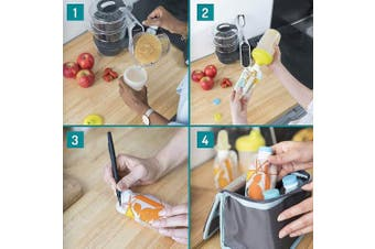(Starter Kit with Reusable Pouches) - Babymoov Foodii Starter Kit with Reusable Pouches