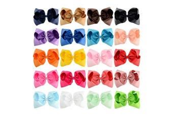 (20cm , 20PCS) - 20pcs Hair Bows for Girls 20cm Big Boutique Bow Alligator Clips Grosgrain Ribbon Hair Accessories Toddlers Kids Teens