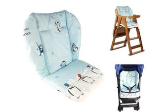 Baby Stroller/Car / High Chair Seat Cushion Liner Mat Pad Cover Protector Breathable(Penguin Pattern)