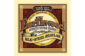 Ernie Ball P02043 Earthwood Silk and Steel Regular Acoustic Set, .013 - .056