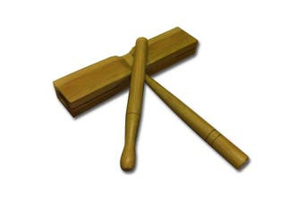 Rhythm Band Flat Tick Tock Block Bamboo
