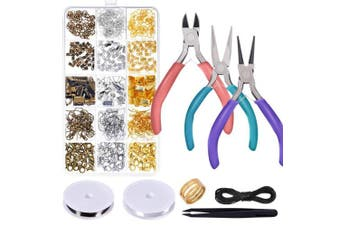 Anezus Jewellery Repair Kit with Jewellery Pliers, Jewellery Making Tools, Beading String and Jewellery Making Supplies for Jewellery Repair, Jewellery Making and Beading