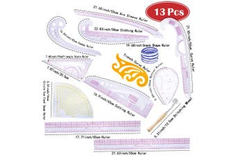 Fashion Ruler Set 12 Style Fashion Pattern Design Ruler- Sewing Pattern Making Tools with Stitching Wheel Tool