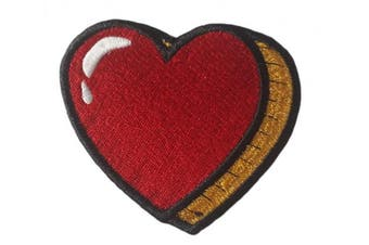 (Small, Multicolored 2) - Heart Patch Iron on Embroidered Appliques for Clothes (Small, Multicoloured 2)