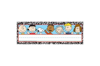 (Blue) - Eureka Peanuts Composition Tented Name Plates, includes 36 tented name plates, measuring 24cm x 17cm
