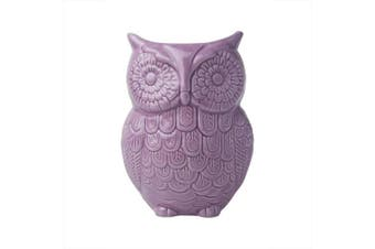"""(Purple) - Comfify Owl Utensil Holder Decorative Ceramic Cookware Crock & Organiser, in Lovely Purple Colour - Utensil Caddy and Perfect Kitchen Ceramic Décor Gift - 5"""" x 7"""" x 4"""" Size"""