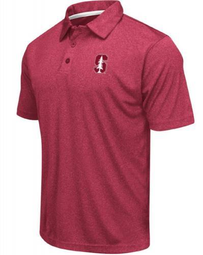 Colosseum Mens NCAA Heathered Trend-Setter Golf//Polo Shirt
