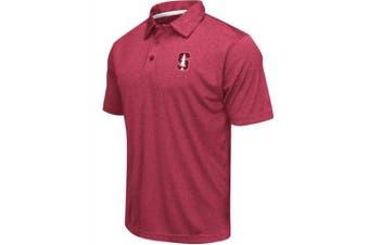 (XX-Large, Stanford Cardinal-Heathered Cardinal) - Colosseum Men's NCAA Heathered Trend-Setter Golf/Polo Shirt