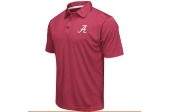 (XX-Large, Alabama Crimson Tide-Heatherd Crimson) - Colosseum Men's NCAA Heathered Trend-Setter Golf/Polo Shirt