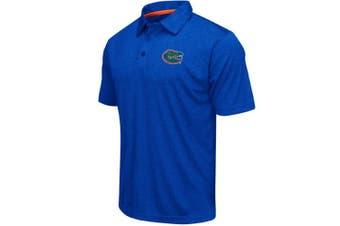 (Large, Florida Gators-Heathered Blue) - Colosseum Men's NCAA Heathered Trend-Setter Golf/Polo Shirt